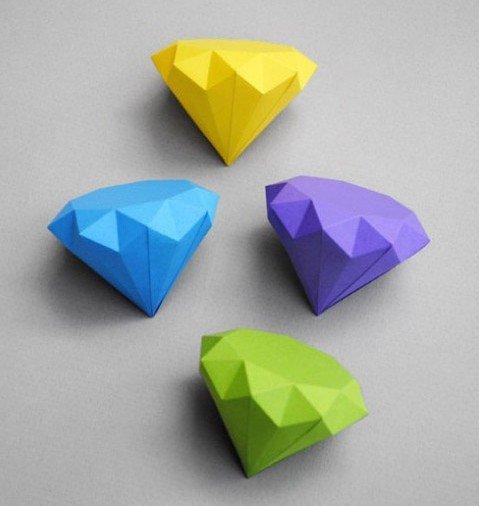 精美的钻石折纸diy图解