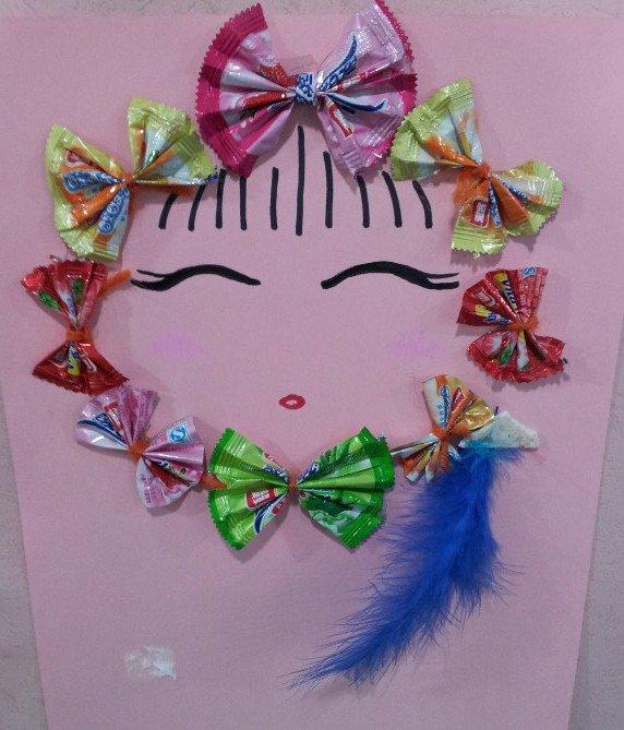 糖纸蝴蝶结步骤图片